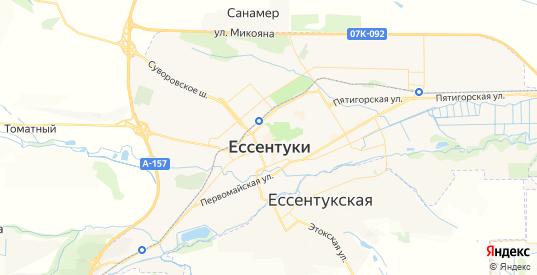 Карта Ессентуков с улицами и домами подробная. Показать со спутника номера домов онлайн