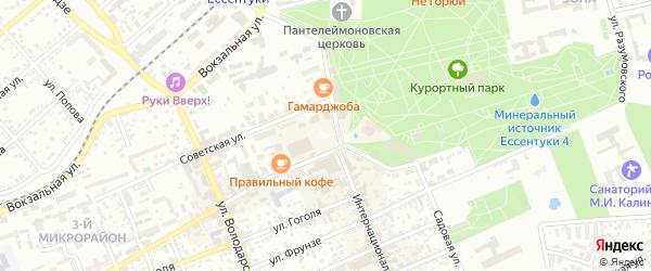 Солнечная улица на карте Ессентуков с номерами домов