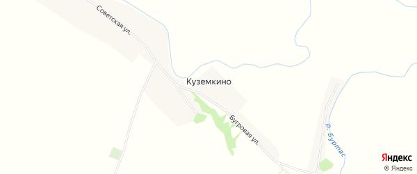 Карта села Куземкино в Пензенской области с улицами и номерами домов