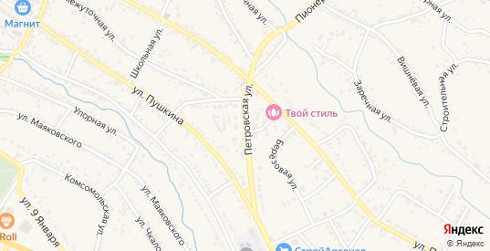 Петровская улица в Светлограде с номерами домов на карте. Спутник и схема онлайн
