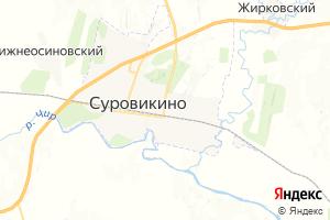 Карта г. Суровикино Волгоградская область