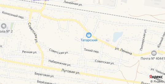 Переулок Пугачева в Суровикино с номерами домов на карте. Спутник и схема онлайн
