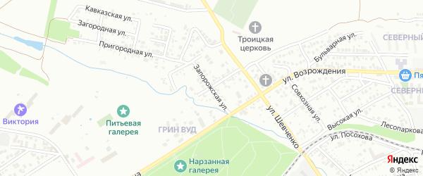 Запорожская улица на карте Ессентуков с номерами домов
