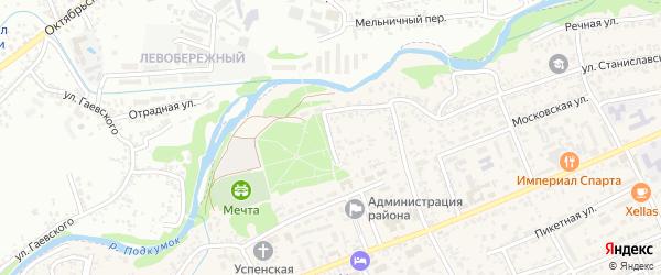 Набережный тупик на карте Ессентукская станицы Ставропольского края с номерами домов