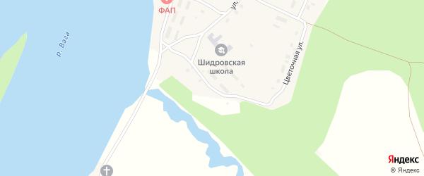 Молодежная улица на карте поселка Шидрово Архангельской области с номерами домов
