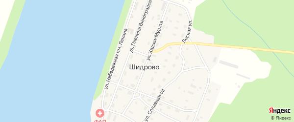 Улица Хаджи-Мурата на карте поселка Шидрово Архангельской области с номерами домов