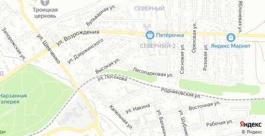 Лесопарковая улица в Ессентуках с номерами домов на карте. Спутник и схема онлайн