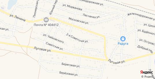 2-я Советская улица в Суровикино с номерами домов на карте. Спутник и схема онлайн