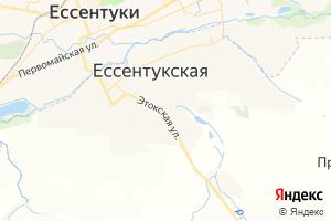 Карта ст. Ессентукская Ставропольский край
