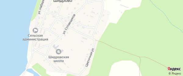 Цветочная улица на карте поселка Шидрово Архангельской области с номерами домов
