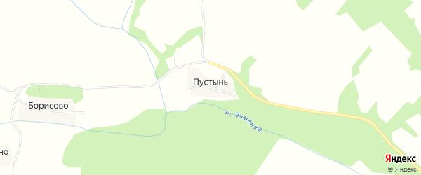 Карта деревни Пустыни в Ивановской области с улицами и номерами домов