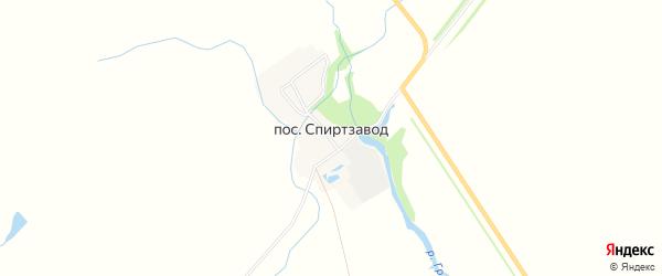 Карта поселка Спиртзавода в Пензенской области с улицами и номерами домов