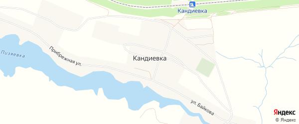 Карта села Кандиевки в Пензенской области с улицами и номерами домов