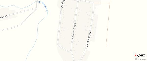 Центральная улица на карте села Сосновки Пензенской области с номерами домов