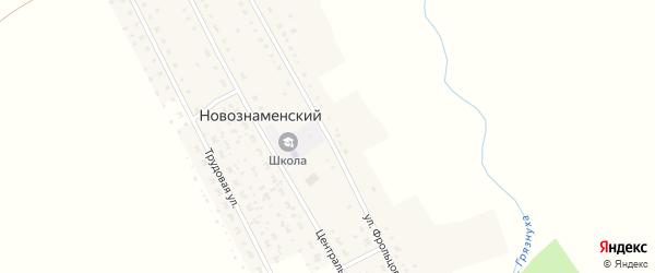 Улица Фрольцова на карте Новознаменского поселка Пензенской области с номерами домов