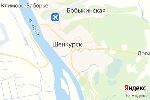 Карта г. Шенкурск Архангельская область