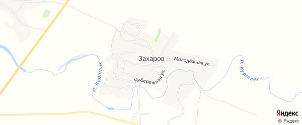 Карта хутора Захарова в Волгоградской области с улицами и номерами домов