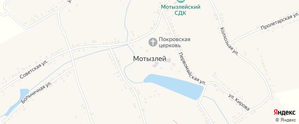 Медовая улица на карте села Мотызлея Нижегородской области с номерами домов