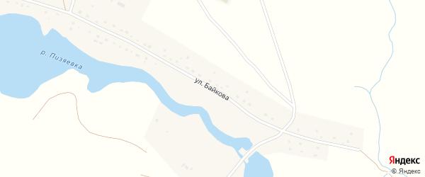 Улица Байкова на карте села Кандиевки Пензенской области с номерами домов