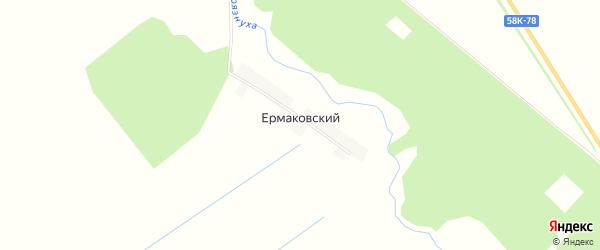 Карта Ермаковского поселка в Пензенской области с улицами и номерами домов