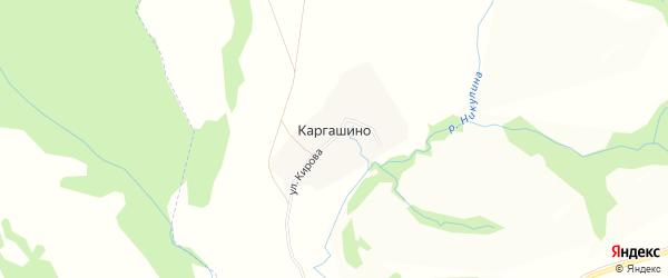 Карта деревни Каргашино в Нижегородской области с улицами и номерами домов