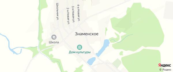 Карта Знаменского села в Пензенской области с улицами и номерами домов