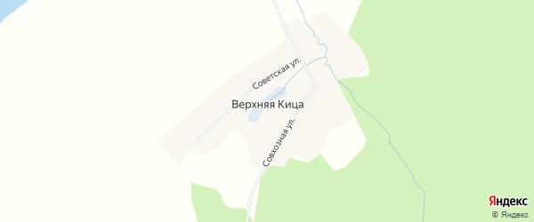 Карта деревни Верхней Кица в Архангельской области с улицами и номерами домов