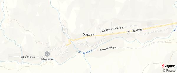 Карта села Хабаза в Кабардино-Балкарии с улицами и номерами домов