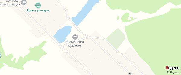 Совхозная улица на карте Знаменского села Пензенской области с номерами домов