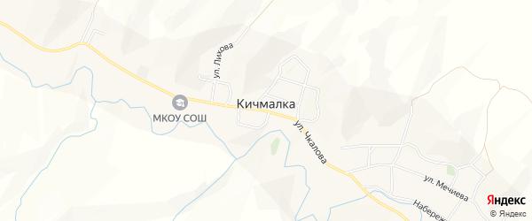Карта села Кичмалки в Кабардино-Балкарии с улицами и номерами домов