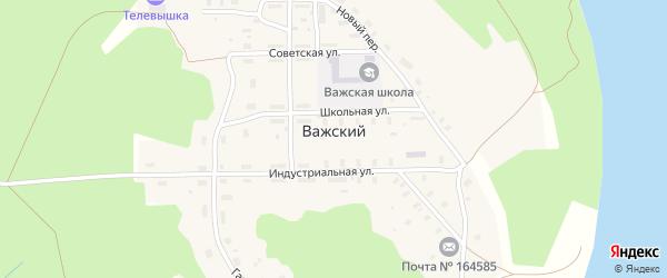 Советская улица на карте Важский поселка Архангельской области с номерами домов