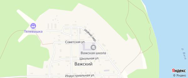 Молодежная улица на карте Важский поселка Архангельской области с номерами домов