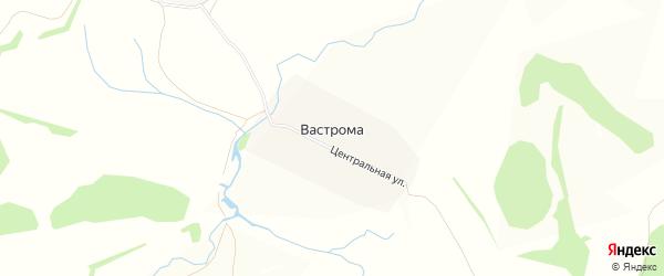 Карта деревни Вастромы в Нижегородской области с улицами и номерами домов