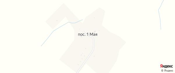 Центральная улица на карте поселка Первое Маи Пензенской области с номерами домов