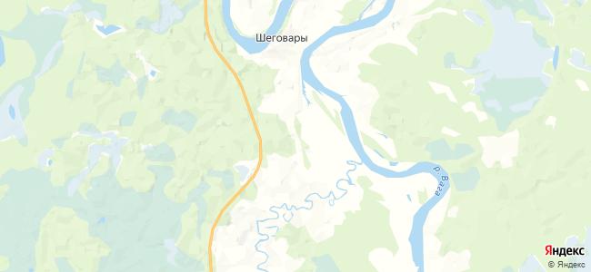 Песенец на карте