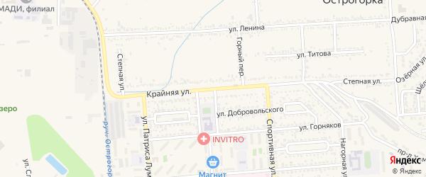 Крайняя улица на карте Лермонтова с номерами домов