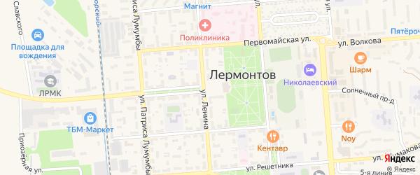 Площадь Ленина на карте Лермонтова с номерами домов