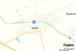 Карта пгт Умет Тамбовская область