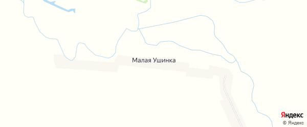 Карта села Малой Ушинки в Пензенской области с улицами и номерами домов