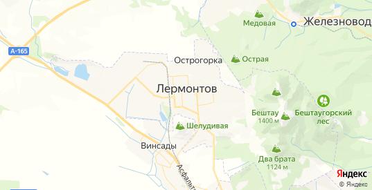 Карта Лермонтова с улицами и домами подробная. Показать со спутника номера домов онлайн
