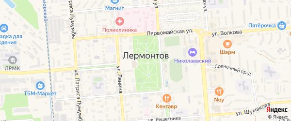 Кавказский проезд на карте Лермонтова с номерами домов