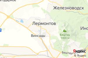 Карта г. Лермонтов Ставропольский край