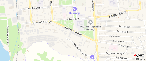 Заводской переулок на карте Лермонтова с номерами домов