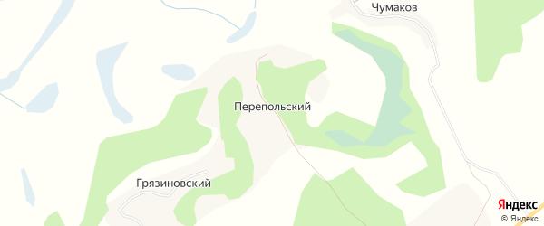 Карта Перепольского хутора в Волгоградской области с улицами и номерами домов