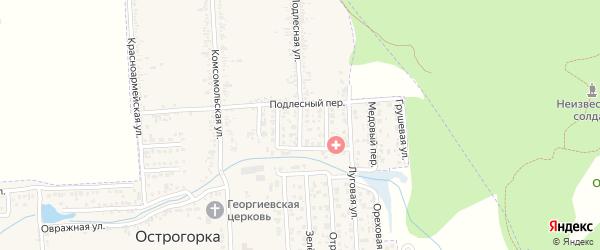 Зеленый переулок на карте Лермонтова с номерами домов