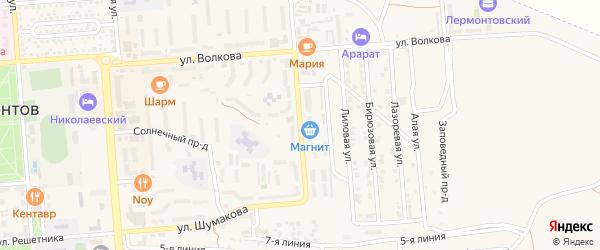 Улица Матвиенко на карте Лермонтова с номерами домов