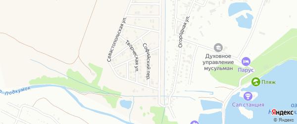 Софийский переулок на карте села Золотушки с номерами домов
