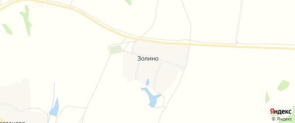 Карта села Золино в Нижегородской области с улицами и номерами домов