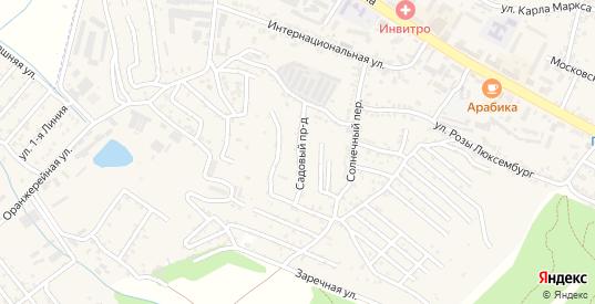 Садовый проезд в Железноводске с номерами домов на карте. Спутник и схема онлайн