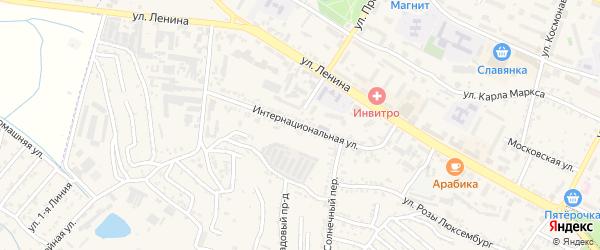Интернациональная улица на карте Железноводска с номерами домов